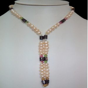 Ivory Pearl Necklace with Magnet