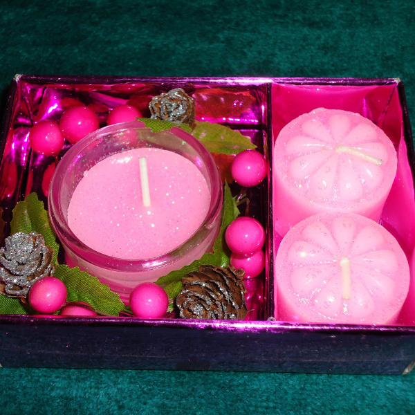 Pink Candle Set